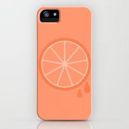 #51 Orange iPhone Case