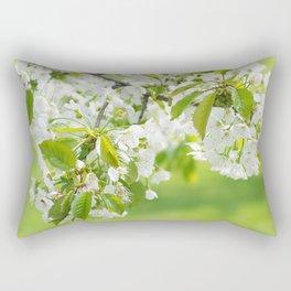 White cherry blossoms romance Rectangular Pillow