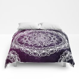 Violet Flower Mandala Comforters