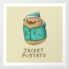 Jacket Pugtato Art Print
