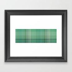 Green Checked Framed Art Print