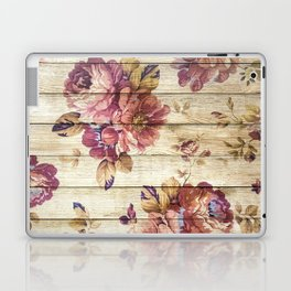 Rustic Vintage Country Floral Wood Romantic Laptop & iPad Skin