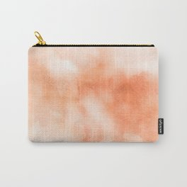 Coral peach orange pastel ikat watercolor hipster watercolour boho chic tie dye  Carry-All Pouch