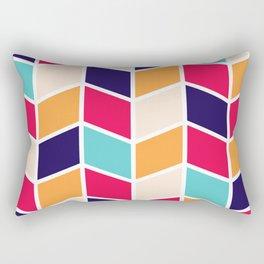 COLORFUL RETRO HERRINGBONE PATTERN Rectangular Pillow