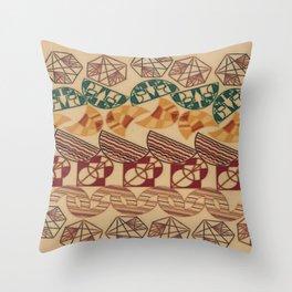 Facetnating Geometric Shapes Throw Pillow