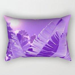Ultra Violet Tropical Beach Palm Rectangular Pillow
