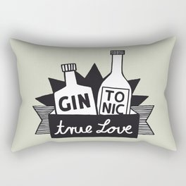 Gin Tonic True Love Rectangular Pillow