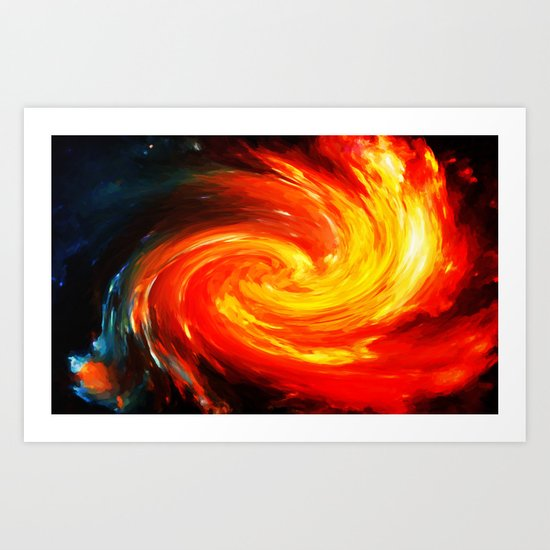 Storm In The Galaxy - Painting Style Art Print