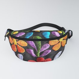 Mexican Flowers Fanny Pack