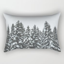 SNOWY TREETOPS Rectangular Pillow