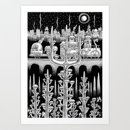 At the Edge of The Woods Art Print