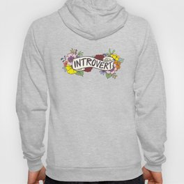 Floral Introvert Banner Hoody