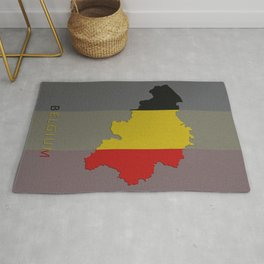 Belgium, Outline, Map Rug