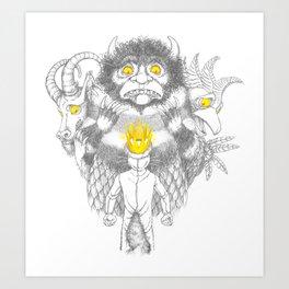 Control Your Temper Art Print