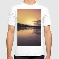 The Radiant Beauty of Nature MEDIUM Mens Fitted Tee White