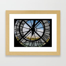 Clock at the Musee d'Orsay Framed Art Print