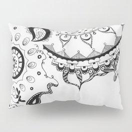 Black and White Boho Pillow Sham
