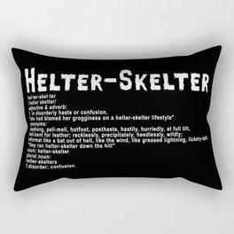 Helter Skelter (white on black) Rectangular Pillow
