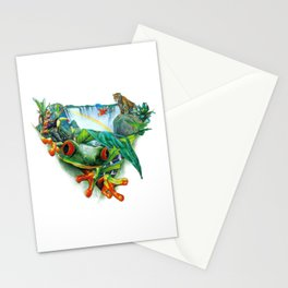Tropical Collage Stationery Cards