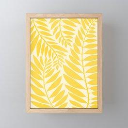 Golden Yellow Leaves Framed Mini Art Print