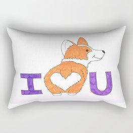 Corgi Butt Love you Rectangular Pillow
