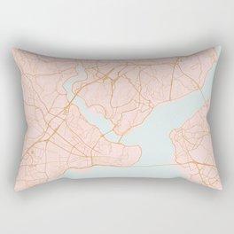 Istanbul map, Turkey Rectangular Pillow