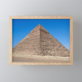 Pyramid of Cheops - Cairo, Egypt Framed Mini Art Print