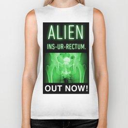 ALIEN INS-UR-RECTUM. Movie Poster. Biker Tank