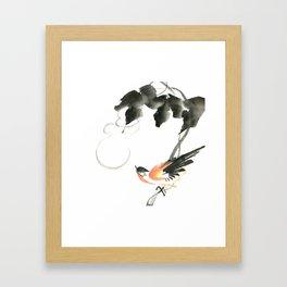 Bird 3- Chinese Shui-mo (水墨) Framed Art Print