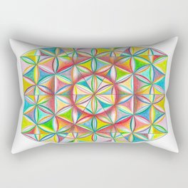 Sacred Design - The Rainbow Tribe Collection Rectangular Pillow