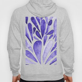 Watercolor artistic drops - electric blue Hoody