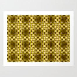 Golden Zig Zag Weave Art Print