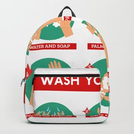 Correct Hand Washing Instructions Infographic Backpack