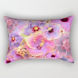 Tropical hibiscus patterns Flower Floral Flowers Rectangular Pillow
