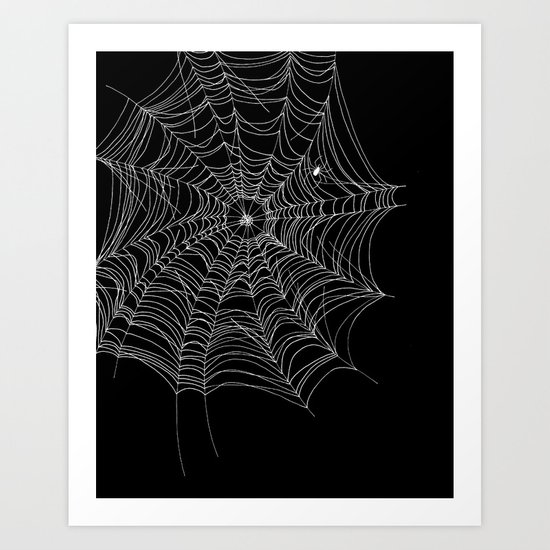Spider's Web Art Print