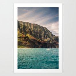 Na Pali Coast Kauai Hawaii Printable Wall Art | Tropical Beach Nature Ocean Coastal Travel Photography Print Art Print