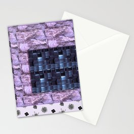texture for interior decoration purple Stationery Cards
