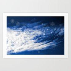 Snowy heaven Art Print