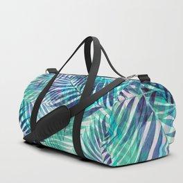 Palm Leaves - Indigo Green Duffle Bag