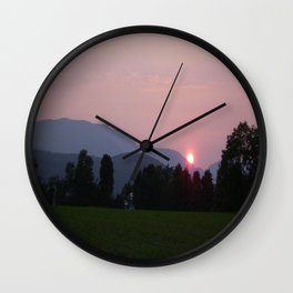 Vermont Sunset over Mad Rive Gle Vermont Wall Clock