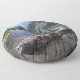 mountain lake Neouvielle National Nature Reserve French Pyrenees mountain landscape Midi-Pyrenees Aragnouet France Floor Pillow