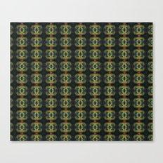 Peacock Bead Abstract Canvas Print