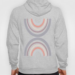 Modern Double Rainbow Hourglass in Muted Earth Tones Hoody
