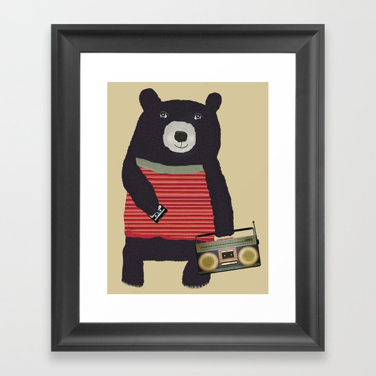 Boomer bear Framed Art Print