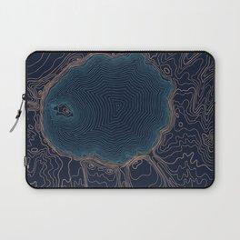 Crater Lake Topo Laptop Sleeve