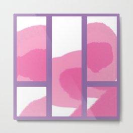 Expressive Windows of Purple Metal Print