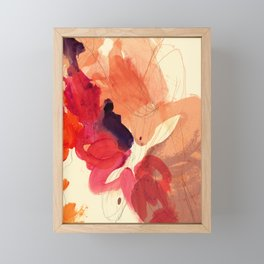 gestural abstraction 01 Framed Mini Art Print
