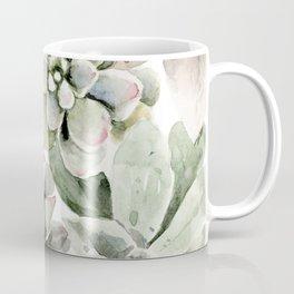 Circular Succulent Watercolor Coffee Mug