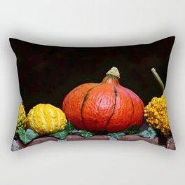 Yellow and orange  pumpkin Rectangular Pillow