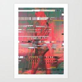 Miss Electric Art Print